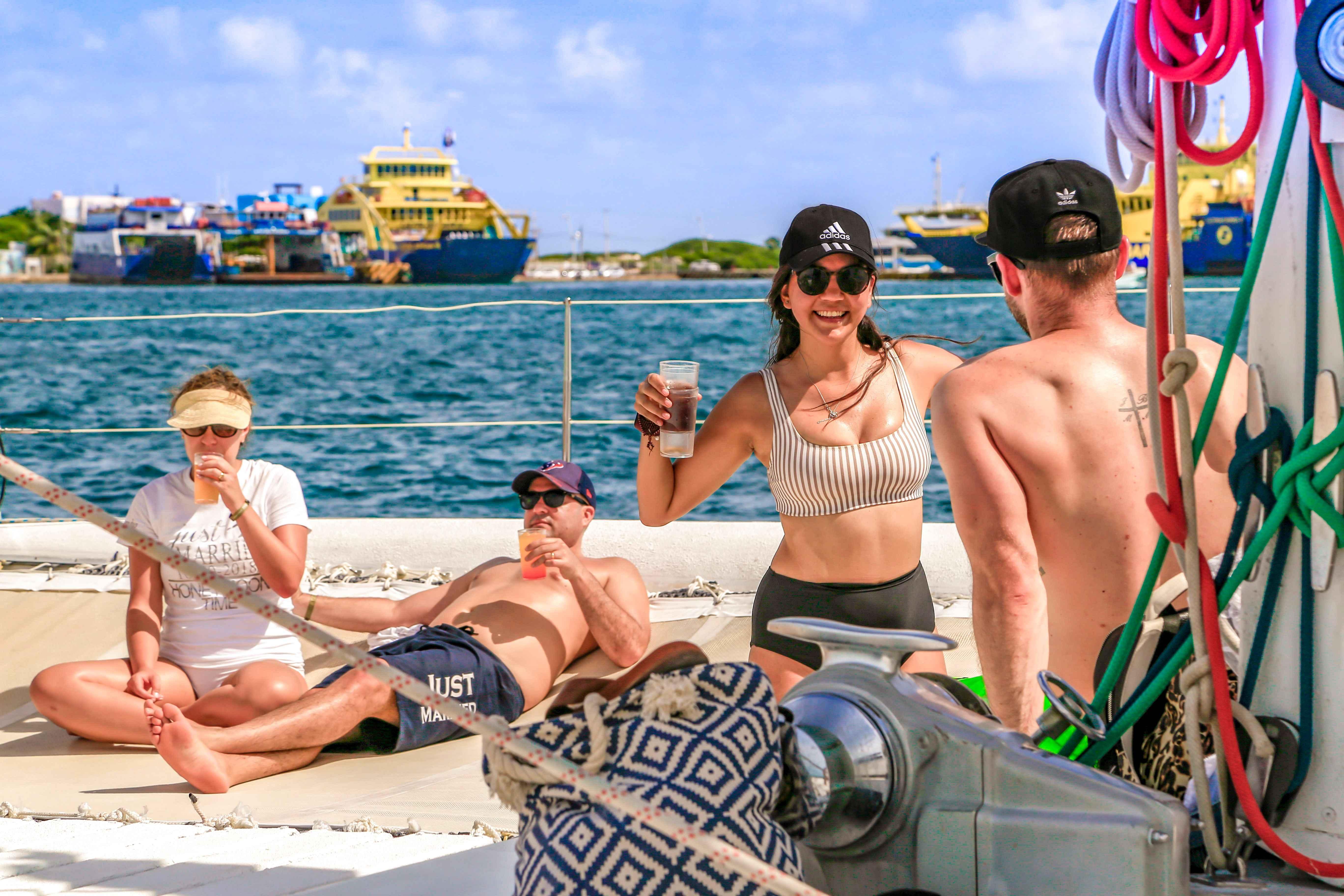 México Travel Solutions Isla Mujeres Catamaran Full Experience